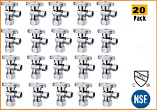 20 Packs Heavy Duty 1/4 Turn Angle Stop Water Shut Off Valve 5/8