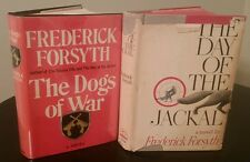 Frederick Forsyth first edition lot The Day of the Jackal & Dogs of War 1st