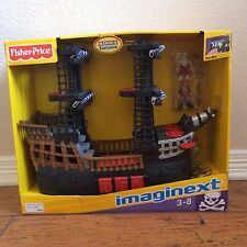 New! Fisher Price Imaginext Pirate Ship Playset Kohls Toy Blue Sails -Quick Ship