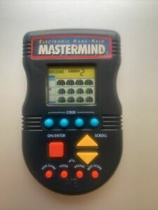 Electronic Handheld Mastermind LCD Game Hasbro 1997 Tested and Works