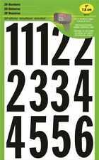 HY-KO 3 in. Vinyl Black/White Numbers Set