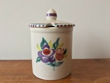 Vintage Poole Pottery Lidded Preserve / Jam Pot 1960's Anne Godfrey