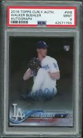 🔥 2018 Topps Clearly Auth Walker Buehler RC Rookie AUTO (Dodgers) PSA 9 MINT 🔥