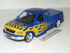 Welly Ford F-150 Flareside Supercab Pick Up Truck Blue On Fire Free Ship