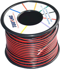 TUOFENG 22 Gauge PVC Electrical Wire 30 Meter Reel 2 Pin Extension Cable 12V/24V