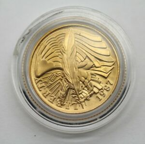1987 LIBERTY FIVE DOLLARS GOLD COIN UNCIRCULATED MINT