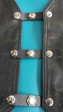 x 4 harley frankinstein vest extenders.black leather # 160