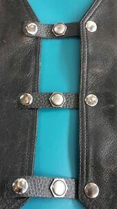 x 4  frankinstein vest extenders.black leather # 160