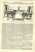 1900 mobili attribuito a Chippendale POLTRONA TAVOLO PIEGHEVOLE CARTA