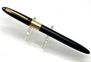 Vintage Sheaffer Snorkel Black Fountain Pen w/14k Gold Trims, USA (#S158)