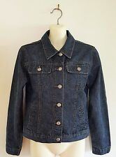 ANGELS Women's Denim Jacket Indigo Flap Pockets 'As New' Size 8