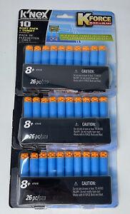 K'NEX - KForce Build and Blast - 30 Dart Lot 3 Packs + Target Building Set 47518