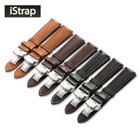 18mm-22mm Genuine France Calf Leather Watch Band for Omega Tissot Seiko Longines