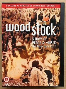 Woodstock DVD 1970 Classic Music Festival Concert Director's Cut in Snapper Case