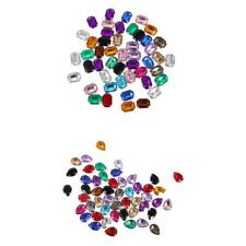 100pcs Multicolor Acrylic Rhinestone Button For Clothes Sewing Crafts DIY