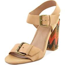 Buckle Block Evening & Party High (3 to 4 1/4) Heel Height Sandals for Women