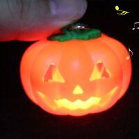 Cute Halloween Vocal Luminous Key Chain LED Lights Pumpkin Key Ring