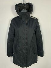 WOMENS SUPERDRY SIZE SMALL BLACK CASUAL WINTER WINCHEATER HOOD RAINCOAT JACKET