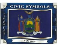 New York State Flag Trading Card Great Gift For Nurse Or Police Officer