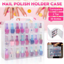 48 Bottles Portable Nail Polish Holder Display Case Organizer Storage Box Holder