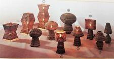 Lampada piantana in rattan intrecciato a mano diverse misure