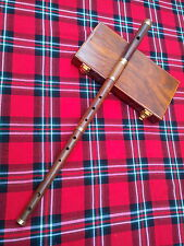 Professional Irish D Flute Rosewood Natural Finish +  Wooden Hard Case/D Flute