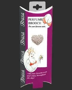 BRAZA S/5801 Perfume Brooch Puffed Heart