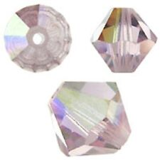 Swarovski Crystal Bicone. Light Amethyst AB Color. 4mm. Approx. 144 PCS. 5328