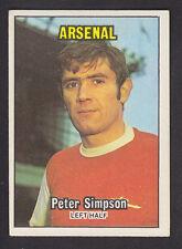 A&BC - Footballers (Orange 1-84) 1970 - # 15 Peter Simpson - Arsenal