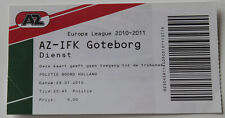 OLD TICKET EL AZ Alkmaar Holland Netherlands IFK Goteborg Sweden