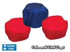 Chef's Skull Caps Coloured - Red & Blue - 3 Set $25 - Premium Quality Chef Hats