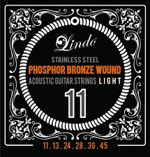 Lindo Light Acoustic Guitar Strings / String Set Phosphor Bronze Wound 11-45