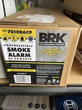BRK Photoelectric Smoke ALARM AC POWERED Model:7010B6CP QTY: 6