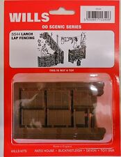 Wills SS44. Larch Lap Fencing With Gates NEW (00 Gauge)