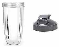 Replacement 32 OZ Tall Cup + Flip Top Lid Spare Parts FOR Nutribullet 600/900W