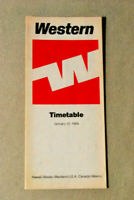 save 25/% 6031 Buy 4 Western Airlines system timetable 10//30//77