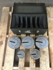 US Army Aviation Balance Weight Set & Fitted Box  7910346 (20 lb - 10 lb - 5 lb)