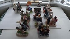 Set Of All 12 1980 Norman Rockwell Figurines W/Coa & Booklet - Mint