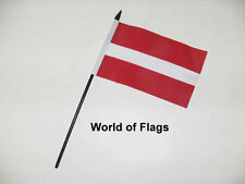 "LATVIA SMALL HAND WAVING FLAG 6"" x 4"" Latvian Flags Crafts Table Display"