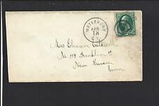 WATERBURY, CONNECTICUT 3CT BANKNOTE COVER, NEW HAVEN CO. 1892/OP.