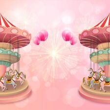 Carousel Balloons 8x8 Backdrop Photography Studio Prop Background Seamless Photo