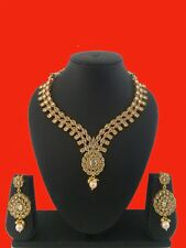 Ethnic Gold Plated Traditional Set Indian Jewelry Bollywood choker Necklace set