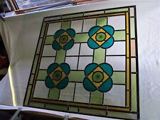 """Newly Crafted STAINED GLASS WINDOW PANEL Victorian Glass and Design 26"""" by 26"""""""