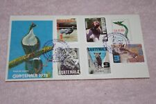 1 .01 Cent Penny Finds Us Fdc First Day Cover 1978 Guatemala Birds Combo Stamps