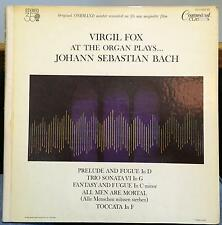 Virgil Fox - At The Organ Plays Bach LP VG+ CC 11022 SD George Piros 1963 Stereo