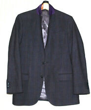 JCM Jey Cole Man Wool 2 Button Vents Gray Plaid Sport Coat Jacket Size Italy 50
