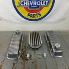 Chevy Bbc 15 Deep Finned Ac Valve Covers Engine Dress Up Kit Breathers 496 454