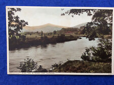 Hand coloured postcard: Monmouthshire, Abergavenny, Sugar Loaf Mountain, Usk