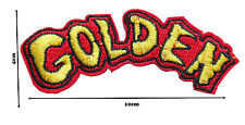 Golden Iron on Embroidered Sew Patch Badge Patches a Lot of designs  #142