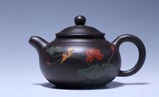 Chinese handmade Yixing PaoZun tea pot zisha black clay pot Gongfu teapot 200cc